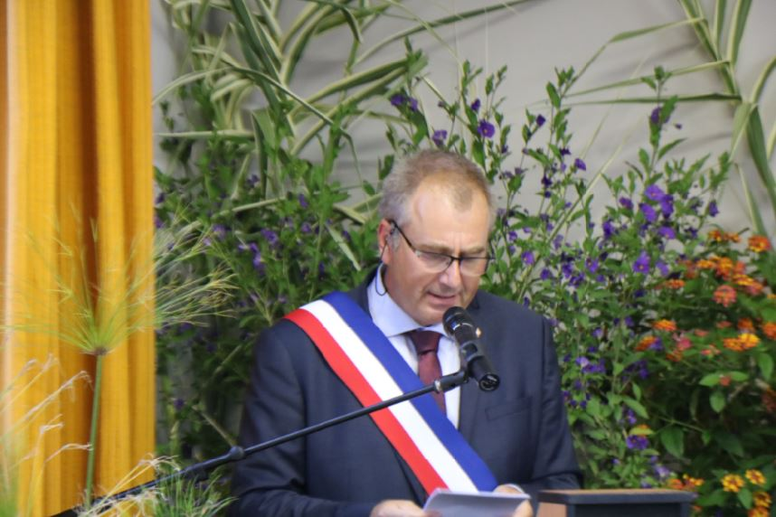 Thierry Darphin, maire d'Is-sur-Tille