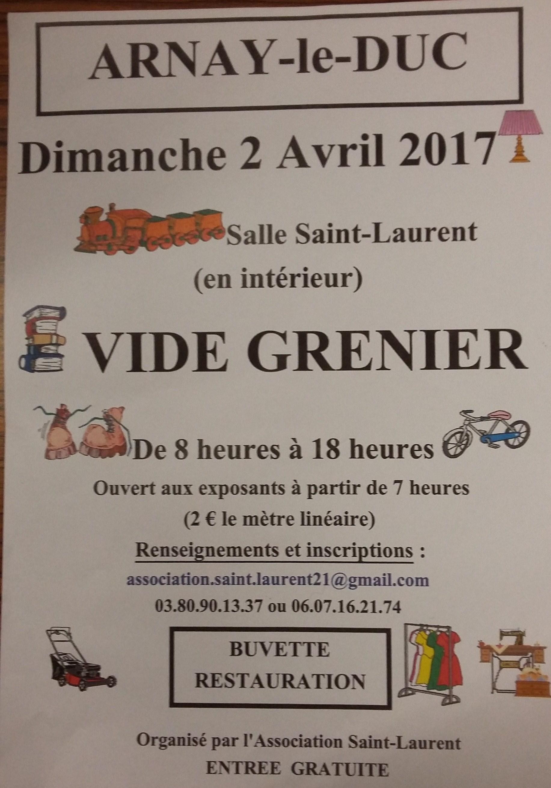 Vide Grenier de l'Association St Laurent