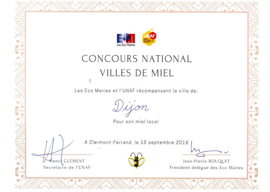 Dijon ville de miel actualit s echo des communes - Clermont ferrand dijon ...