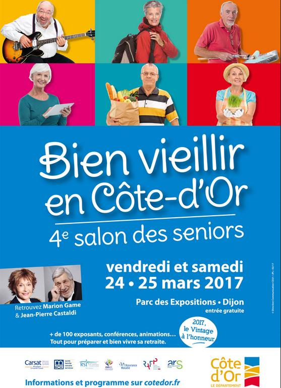 Bien vieillir en c te d 39 or le salon des s niors rendez for Salon seniors